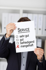 service mangelhaft