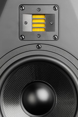 audio speaker, closeup view