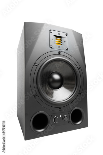 audio speaker, isolated on white