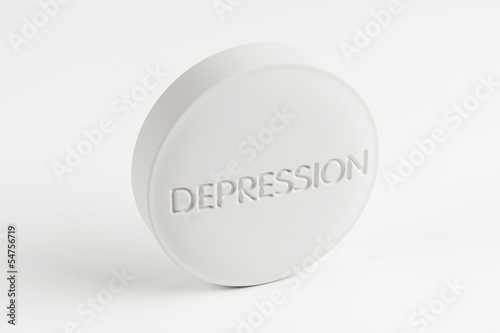 Depression Pill with Clipping Path