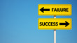 Success Failure Sign with Clipping Path