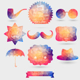 Vector Hipster background made of geometric pattern. Retro label