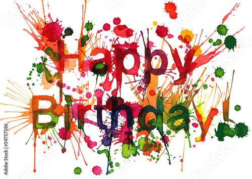 canvas print picture Happy Birthday!