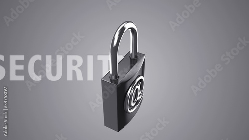 Internet security loop both locked/unlocked Alpha matte