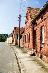 Dorfstraße in Brandenburg