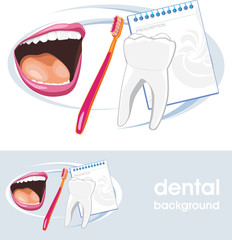 Dental concept. Icon and banner for design