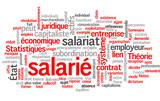 Salarié (salariat, travail, employé, tagcloud) poster