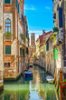 Venice cityscape, water canal, church and buildings. Italy - 54759152