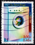 Postage stamp France 2000 Invention of Washing Machine poster