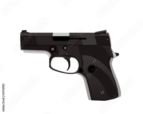 Handgun isolated on white background. Vector EPS10.