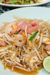 top view Pad Thai