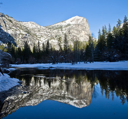 Mirror lake in Yosemite