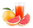 grapefruit juice with ripe grapefruits