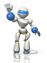 Cheerful humanoid robot