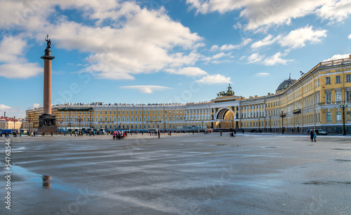 canvas print picture Palace Square with the Alexander Column