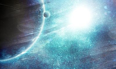illustration of fantastic space