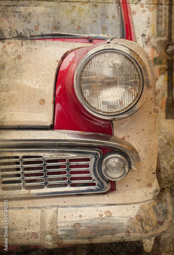 retro car headlight © merydolla