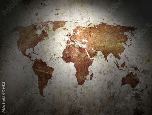 Fototapeta vintage map of the world