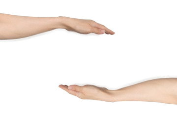 両手で支える