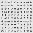 Big collection of web icons. Vector
