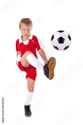 Fussballer mit Trikot