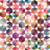 Retro pattern of geometric shapes. Triangle colorful mosaic back