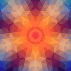 Retro star vector backdrop of geometric shapes. Colorful mosaic