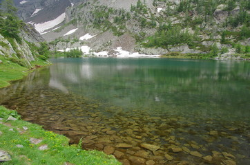 alpi marittime - parco mercantour (francia) - lago