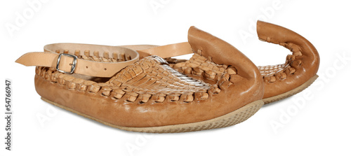Opanci or opanak old traditional Serbian shoes