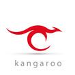 Vector logo kangaroo