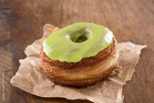 Apple fondant croissant and donut mixture