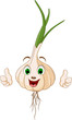 Cartoon cute Garlic thumbs up