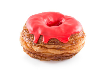 Cherry fondant croissant and donut mixture