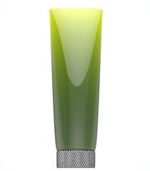 Tubo de crema verde