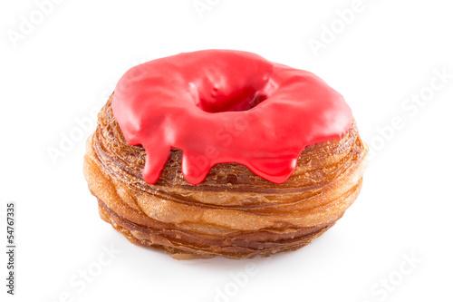 Cherry fondant croissant and donut mixture