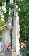 Ancient Lychakivskyj cemetery view (Lviv City, Ukraine)