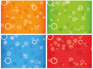 Abstract colourful combo background with circles