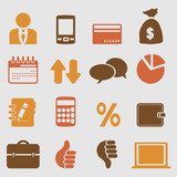 Business icons set.Vector