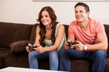 Video game competition for a date