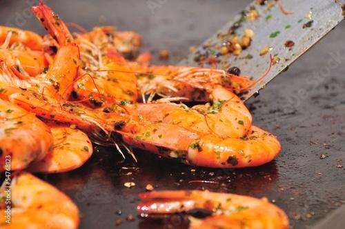 Crevettes à la plancha - 54768123