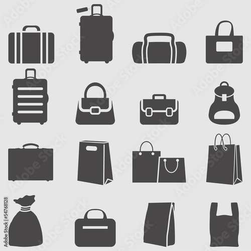 Bag icons set.Vector