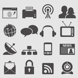 Communication icons set.Vector