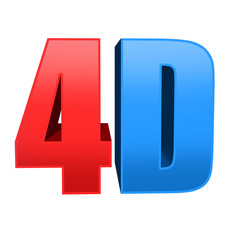 4D text background