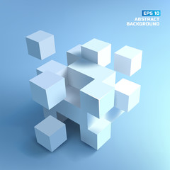 Abstract cubes. Background