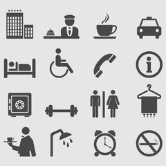 Hotel icons set.Vector