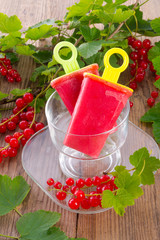 Homemade currant water ice