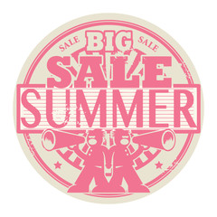 Stamp with the words Big Summer Sale written inside, vector