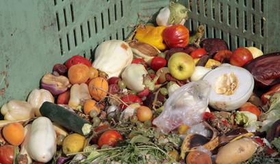 broken fruit and vegetables to throw used as manure on the farm