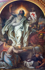 Vienna - Fresco of Resurrection in Altlerchenfelder church