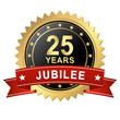 Jubilee Button with Banner - 25 YEARS